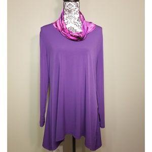 Susan Graver Liquid Knit Tunic Size L